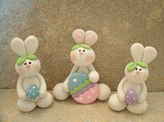 Easter bunny trio.