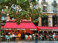 Café des Phares.  Near the Bastille.  Philosophy & Best Croque Monsieur in Paris.