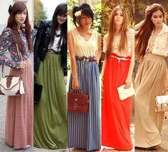 moda das saias longas