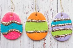 Learn how to make these Salt Dough Easter Eggs!