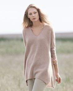 Image of V-neck cashmere sweater