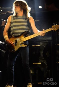 Cliff Williams AC/DC performing live as the headline act at Donington Festival 1991
