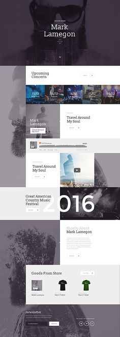Template 58249 - Country Music  Responsive Landing Page Template