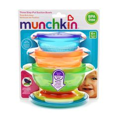 Bowls & Plates 3 Ct Baby 4 Pack Munchkin Stay Put Suction Bowls