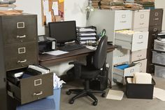 Photo about Very messy office with piles of files. Image of cabinet, unorganized, clutter - 19105882 Home Office Organization, Organizing Your Home, Organization Hacks, Organizing Tips, Storage Hacks, Cleaning Hacks, Junk Removal, Removal Services, Organize Your Life