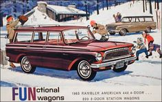 1963 Rambler American 220 2 dr & 440 4dr station wagon advert