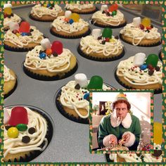 Christmas Movie Night, Christmas Party Food, Office Christmas, Grinch Christmas, Christmas Cupcakes, Christmas Goodies, Christmas Desserts, Christmas Treats, Christmas Baking