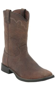 32c601dc6c5ce Justin® Stampede Collection™ Men s Rugged Tan Square Toe Roper Boots