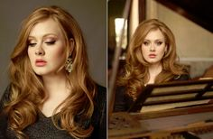 Adele. She sings, she's a bigger girl, and she's a red head....it's like we're twins.