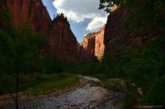 Virgin River Zion National Park http://geogypsytraveler.com/2014/07/14/zooming-zion-north-rim/