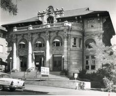 Courtesy  |  Utah State Historical Society The exterior of the Salt Lake City Free Library on State Street. In 1965, the building became the Hansen Planetarium. It currently houses the O.C. Tanner Company Headquarters.