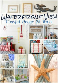Going coastal? Make it summer year round in your home by adding some beachy accessories and coastal style. See the inspiration at FourGenerationsOneRoof.com