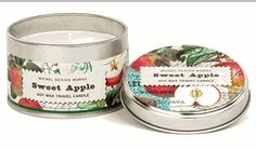 Sweet Apple Travel Candle Tin by Michel Design Works | BettesGifts.com | $9.99