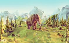 'Power Giants', created with 3ds Max, Photoshop and V-Ray by Mateusz Szulik #lowpoly