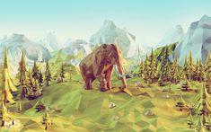 Power Giants - paper lowpoly environments, Mateusz Szulik on ArtStation at http://www.artstation.com/artwork/power-giants-paper-lowpoly-environments
