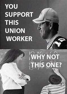 private professional athletes are unionized/idolized yet public sector workers (teachers, firefighters, postal carriers) are incessantly attacked for being union. WHY? Anti-union lobbyists campaigned Congress for wallstreet banks (schlepping money to Swiss/Cayman accounts) and for Michigan's bailout of Ford, GM, Chevy (who laid off their workers, stole their pensions, relocated to Mexico) but then lobbied Congress against bailing out Detroit public workers.