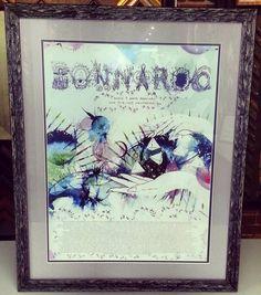 Custom framed #Bonnaroo print. We love the movement in this frame by Fotiou Frames. Custom framed by FastFrame of LoDo. #art #framing #denver #colorado #pictureframing #customframing #music