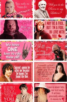 lotr valentines 2! I love these too!