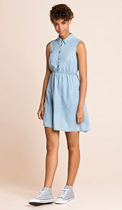 Vestido vaquero en azul claro Denim Jeans, Summer Dresses, My Style, Casual, Image, Tops, Women, Night, Fashion