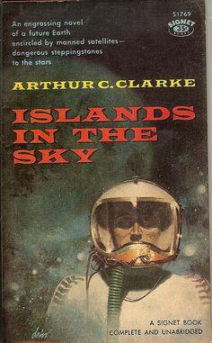Island in the Sky, Arthur C. Clarke (1960 paperback), cover by Paul Lehr