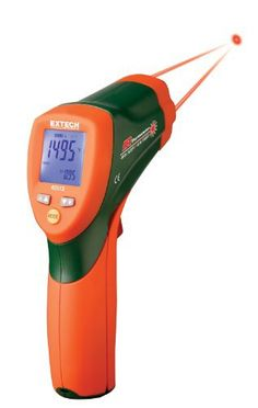 Extech 42512 Thermomètre infrarouge à double laser: IR THERMOMETER 30:1 DUAL LASER — Accuracy %:1% — Operating Temperature Max:50°C —…