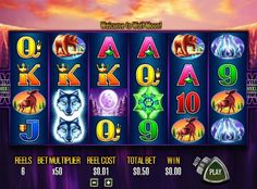 Are you hot enough to try Wolf Moon from Aristocrat slots? Try the adventures of free slots online play before risking your money! Wolf Spirit, Wolf Moon, Free Slots, Slot Online, Slot Machine, Arcade Machine
