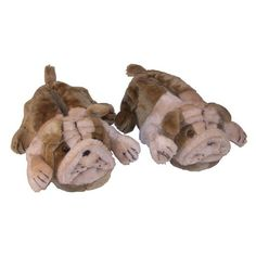 Have to have it. Comfy Feet Bulldog Animal Feet Slippers $29.98