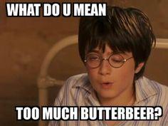 Harry Potter humor.  Poor Harry!  :)