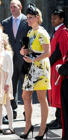 Zara and Mike Tindall attend the Anniversary service to mark the Queen's coronation at Westminster Abbey 4 June 2013 St Edward's Crown, Louise Mountbatten, Queen's Coronation, Autumn Phillips, Mike Tindall, Prince William And Kate, Prince Philip, Royal Families Of Europe, English Royal Family