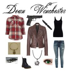 """""""Dean Winchester Inspired Outfit"""" by fangirl2021 ❤ liked on Polyvore featuring J Brand, T By Alexander Wang, Balenciaga, Dorothy Perkins, Dr. Martens and Smith & Wesson"""