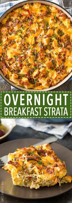 Overnight Breakfast Strata | This breakfast strata dish is made the ...