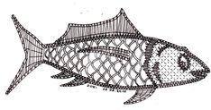 Nous continuons avec la série des poissons Voici le 2ème spécimen proposé par Dominique. Il a été réalisé par Martine pour le patch/dent... Bobbin Lacemaking, Types Of Lace, Bobbin Lace Patterns, Sea Crafts, Lace Heart, Lace Jewelry, String Art, Lace Detail, Needlework