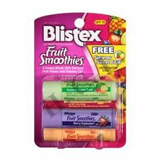 Blistex Fruit Smoothies LIP Balm Protectant Sunscreen SPF 15 4 LIP ...