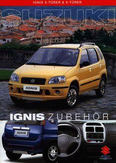 https://flic.kr/p/Frj4zU   Suzuki Ignis 3-Türer & 5-Türer Zubehör; 2000   auto car brochure   by worldtravellib World Travel library - The Collection