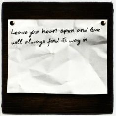 Your love found its way in even when my heart wasn't open. And I'm so glad it did!!