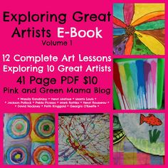 * Pink and Green Mama Crafts: Exploring Great Artists Volume 1 e-book