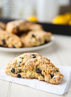 Blueberry Lemon Scones from @Angie McGowan (Eclectic Recipes)