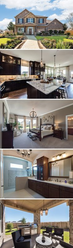 The Kennessey by David Weekley Homes in Silver Ranch is a stunning floorplan that features an open kitchen and family room layout, a sizeable owners retreat and a 3 car garage. Custom home upgrades include a covered porch, a super shower in the owners bathroom or a wet bar on the second floor.