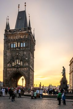 Bridge tower in Prague - bridge tower in Prague