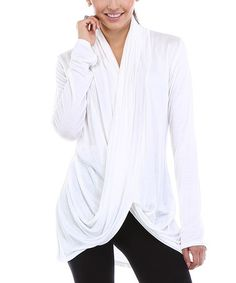 Another great find on #zulily! White Twist-Front Tunic - Plus #zulilyfinds