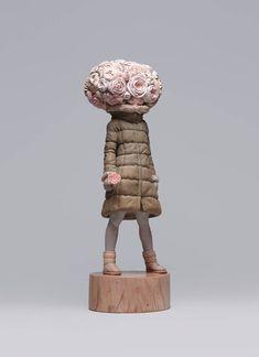 Glitch Girl – Les nouvelles sculptures surréalistes de Yoshitoshi Kanemaki (image)