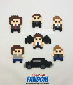 SUPERNATURAL Party Favors perler beads by  MadamFANDOM on etsy. ***original MadamFANDOM designs. Do not copy!***