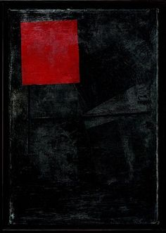 Kazimir Malevich, Red square on the black, 1920-24