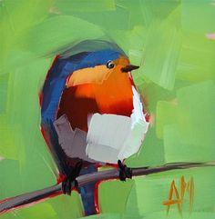 """Robin no. 79"" - Original Fine Art for Sale - © Angela Moulton"