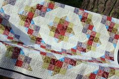 Wendy Sheppard from Ivory Spring created her beautiful Calico Trail Quilt using Quilting Traditions fabrics and Aurifil 50wt for quilting! To read more please visit https://ivoryspring.wordpress.com/2015/06/10/light-and-quilting/
