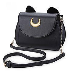 Fashionable   Cute Sailor Moon Kawaii Chain Shoulder Bag Leather Bags 264083f9eefa9