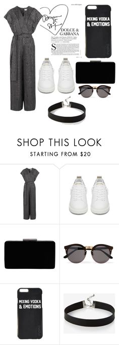 """dark humor"" by jeonayla on Polyvore featuring Diane Von Furstenberg, Golden Goose, John Lewis, Illesteva and Express"