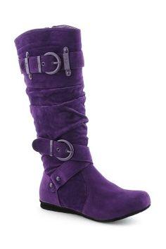 Super cute purple boots!  Oh my.