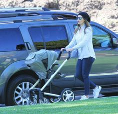 Jessica Biel out for a stroll with a Nuna Stroller Board, Convertible Stroller, Jessica Biel, Celebs, Celebrities, Most Favorite, Children, Kids, Baby Strollers