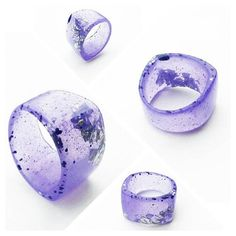 Speckled purple/lavender and silver resin band by BadKittybyNikki